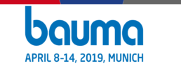 Bauma munich 2019 banner