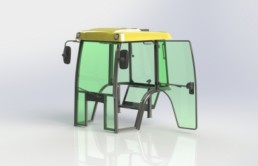 Example vehicle cabin design by Fortaco engineers