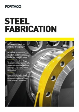 Fortaco Steel Fabrication Brochure Front Page Thumbnail