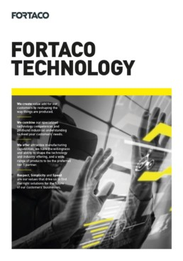 Fortaco Technology Brochure Front Page Thumbnail
