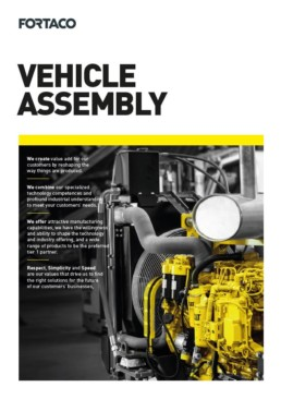 Fortaco Vehicle Assembly Brochure Front Page Thumbnail
